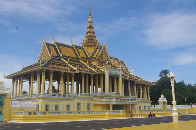 Royal Palace Complex In Phnom Penh Stock Photo