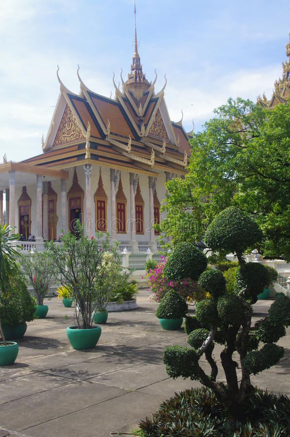 The Silver Pagoda in Phnom Penh royalty free stock photo