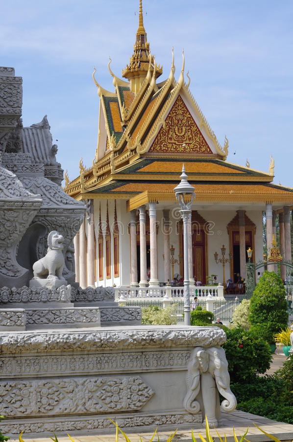 Silver, Pagoda in Phnom Penh royalty free stock image