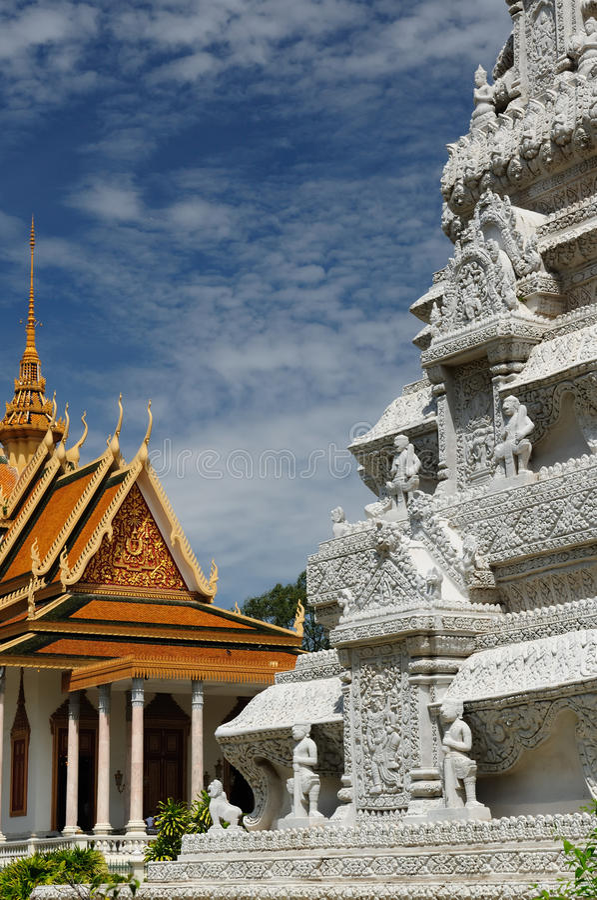 Phnom Penh - Golden Stupa royalty free stock photo