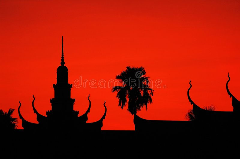 Phnom Penh, Kambodja stock foto's
