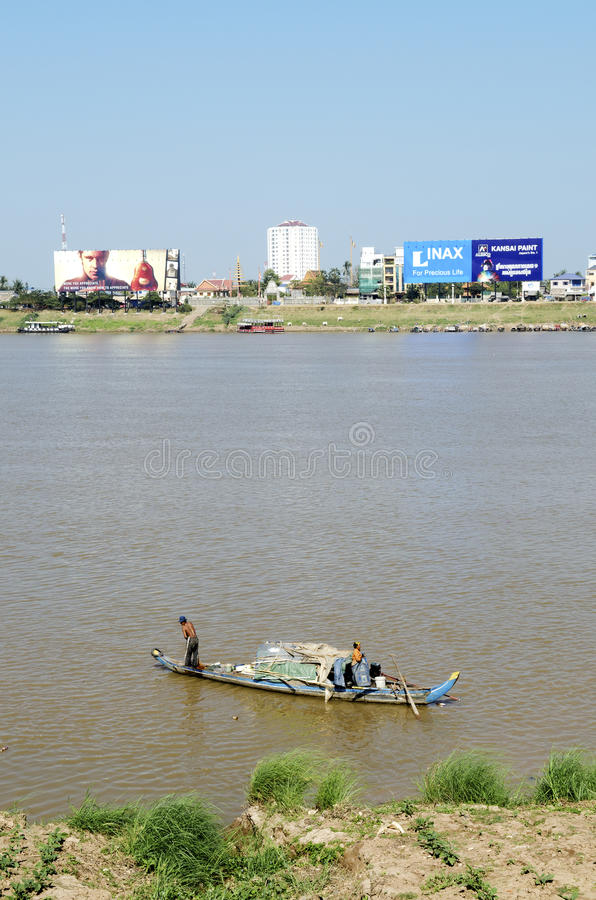 Phnom penh riverside in cambodia