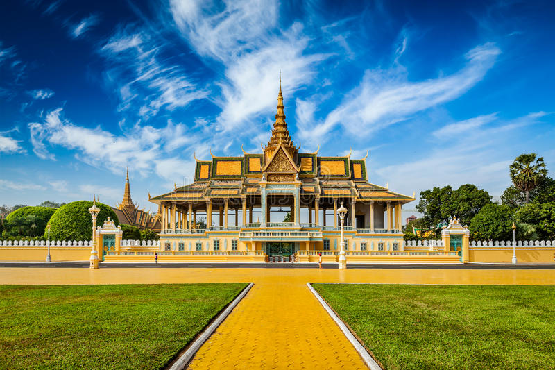 Phnom Penh Royal Palace kompleks obraz royalty free