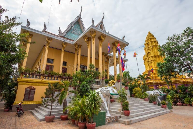 Phnom Penh, templo capital, palacio real Camboya foto de archivo libre de regalías