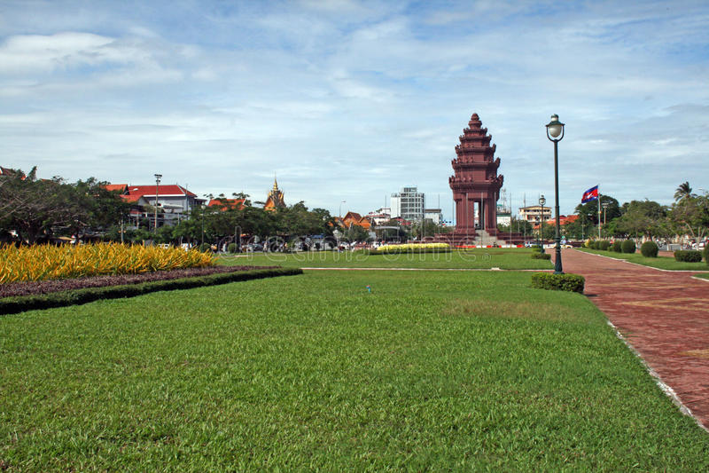 Phnom penh vierkant stock foto