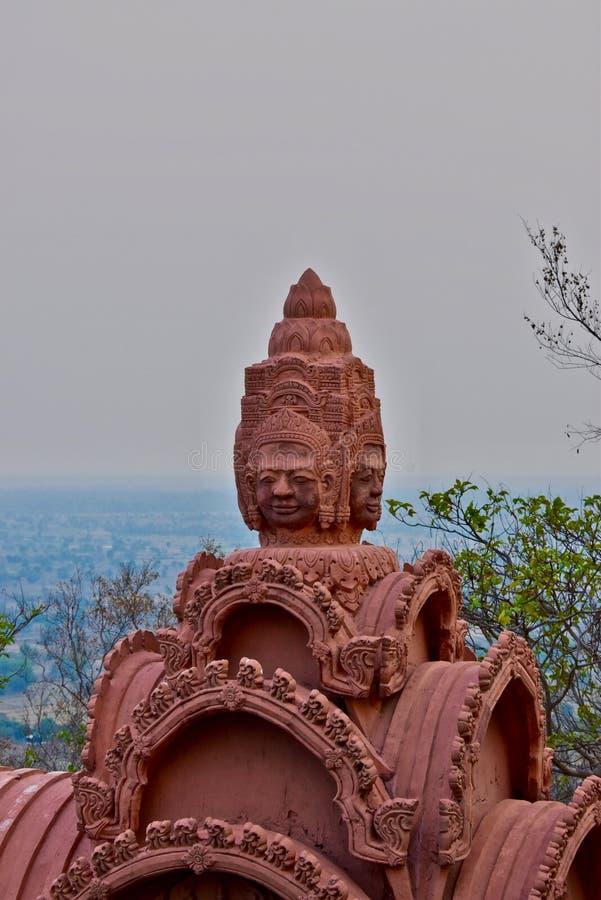 Phnom Sampeau地区,马德望,柬埔寨 库存图片