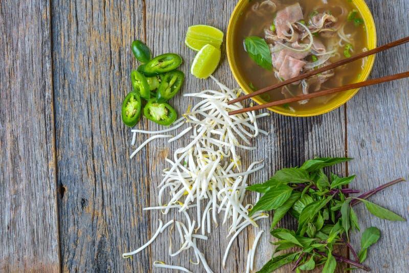 Pho越南牛肉汤 免版税库存照片