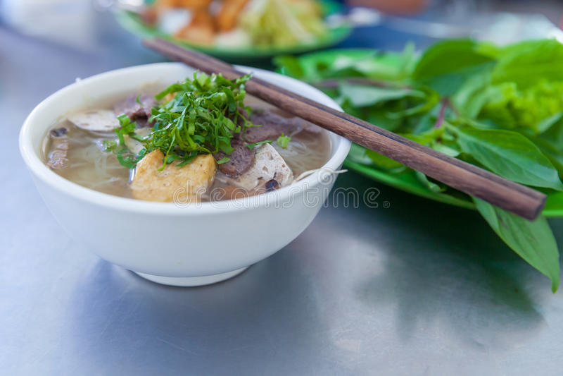 Pho berömd vietnamsenudelsoppa royaltyfri fotografi