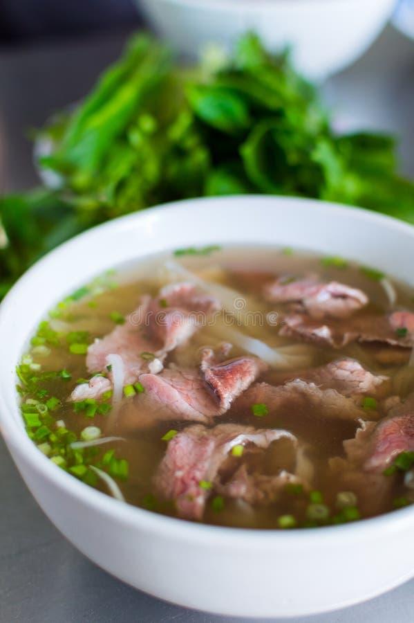 Pho Bo, въетнамский суп с говядиной стоковые фото