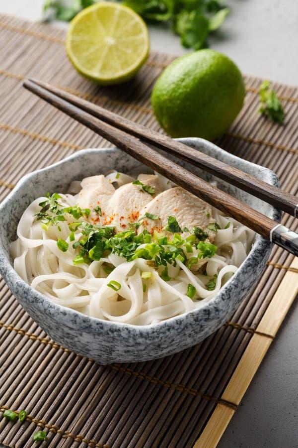 Pho GA, soupe de nouilles vietnamienne de riz de poulet photo libre de droits