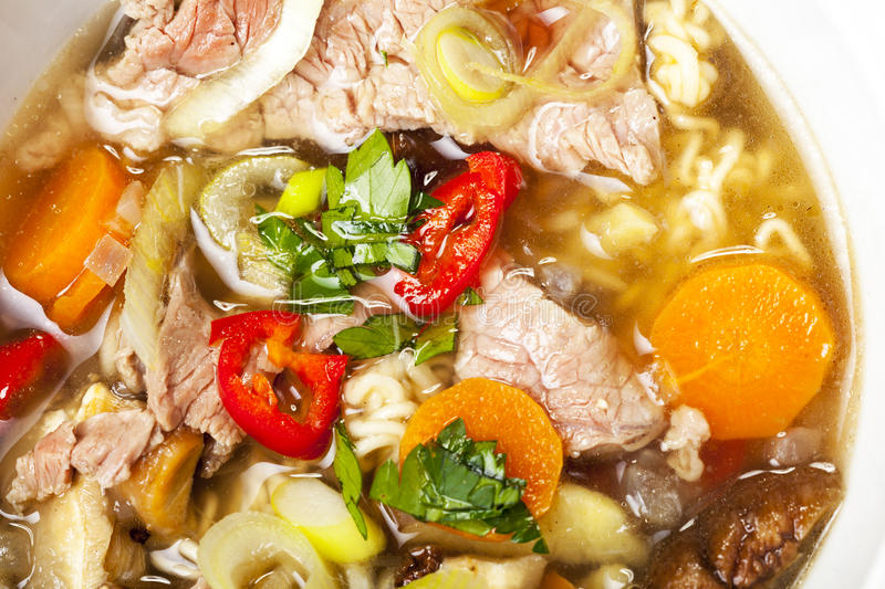 Pho soup stock photo