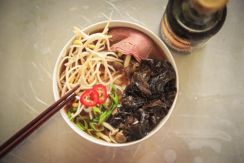 Pho - vietnamesische Suppe stockbilder