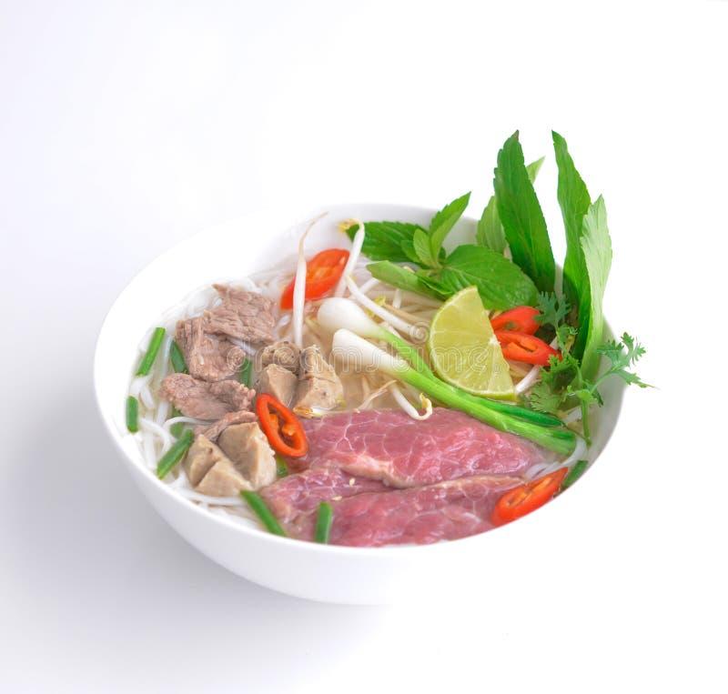 Pho vietnamiano da sopa da carne imagens de stock royalty free