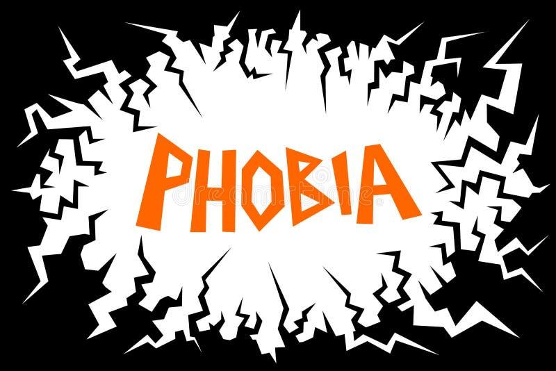 phobia stock de ilustración