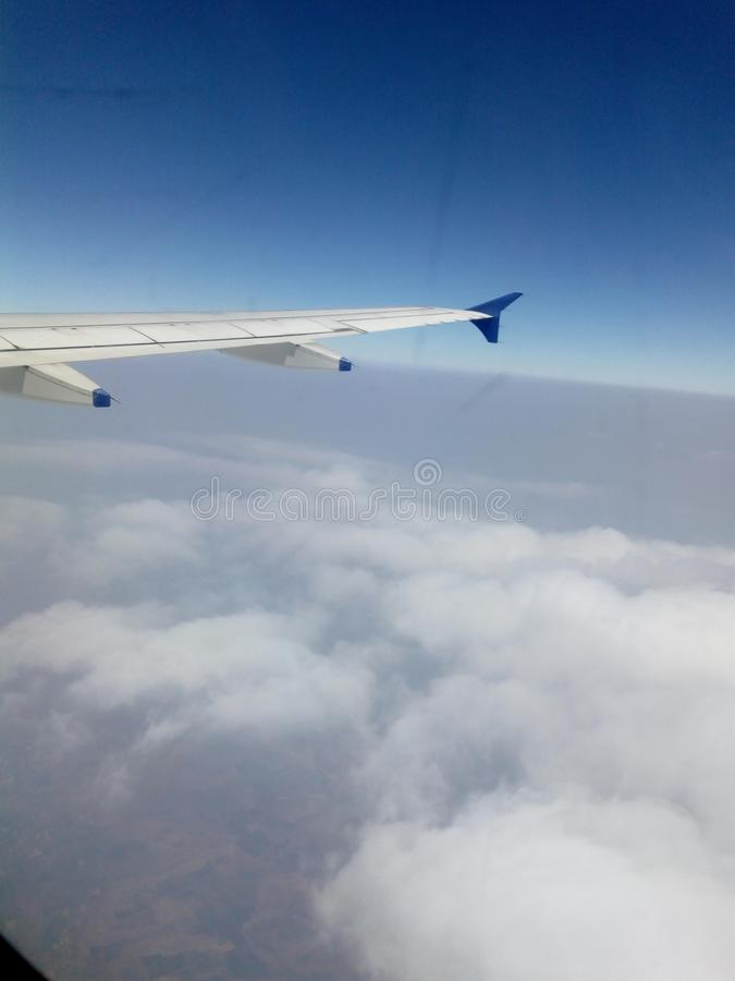Phobie de vol de combat images libres de droits