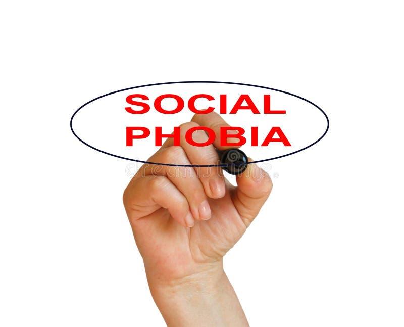 Phobie sociale image stock
