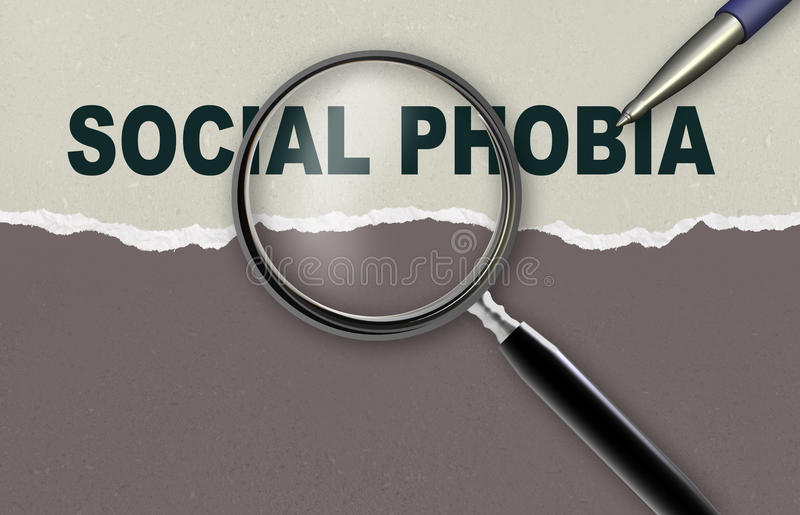 Phobie sociale illustration stock