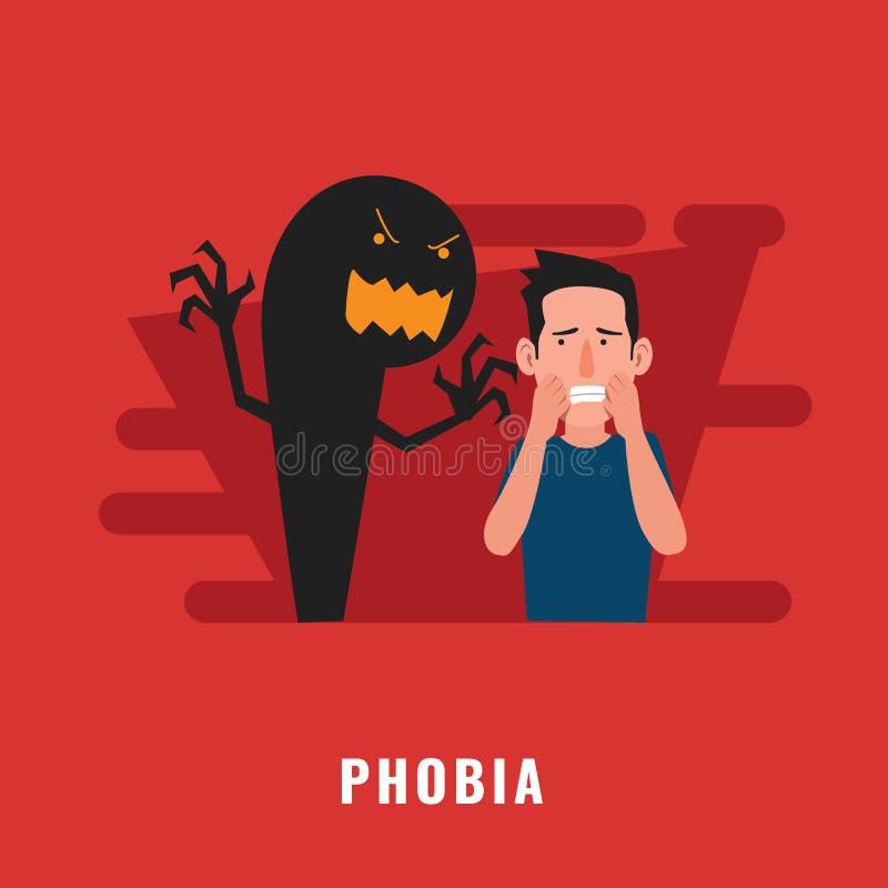 Phobienpsychische störung lizenzfreie abbildung