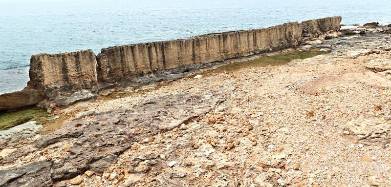 Download The Phoenecian Sea Wall At Batroun, Lebanon Stock Image - Image: 31043067