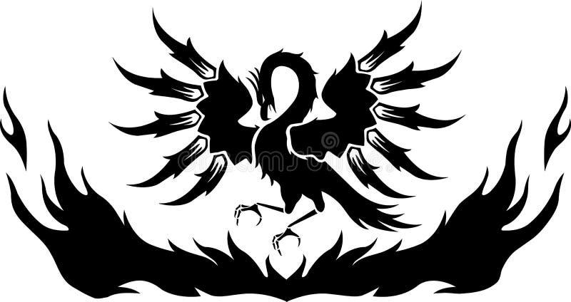 Phoenix που αυξάνεται από την απεικόνιση φλογών απεικόνιση αποθεμάτων