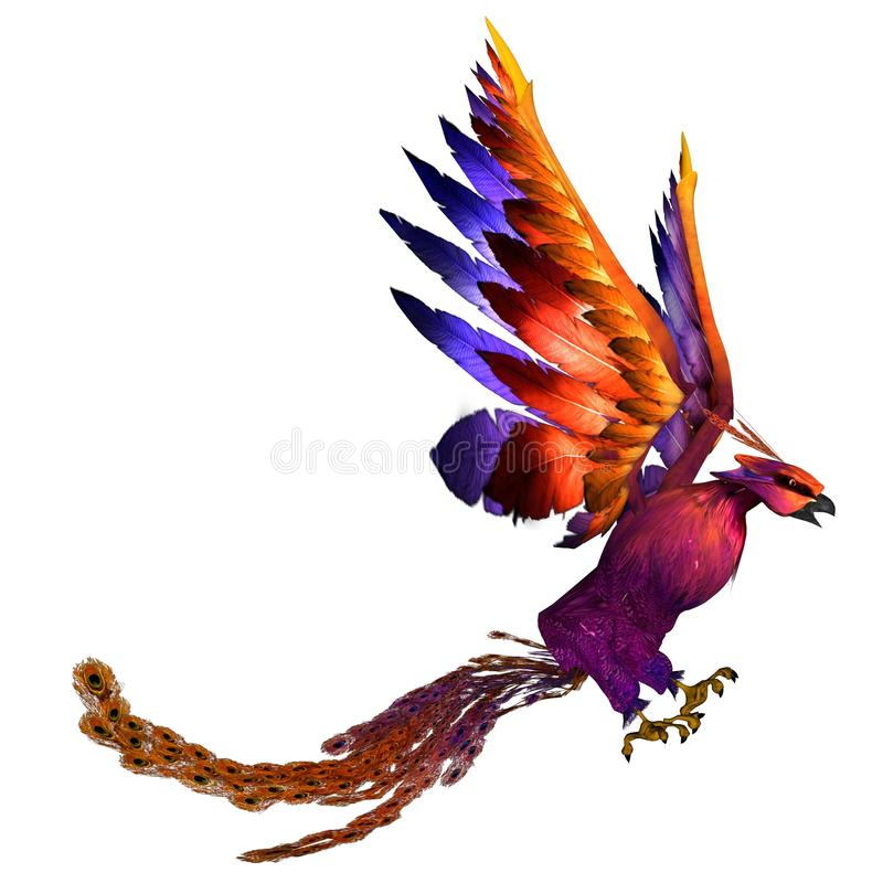 Download Phoenix stock illustration. Image of tale, bird, isolated - 12198106
