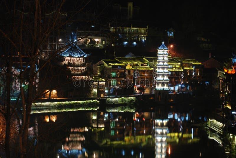 Download Phoenix Ancient City Night Scene Stock Image - Image of river, travel: 29677487