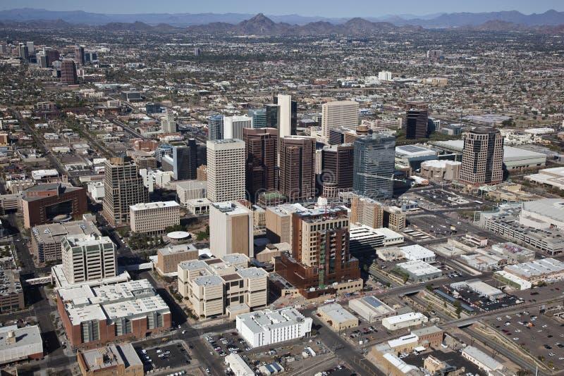 Phoenix, Arizona. Aerial view of downtown Phoenix, Arizona stock photography