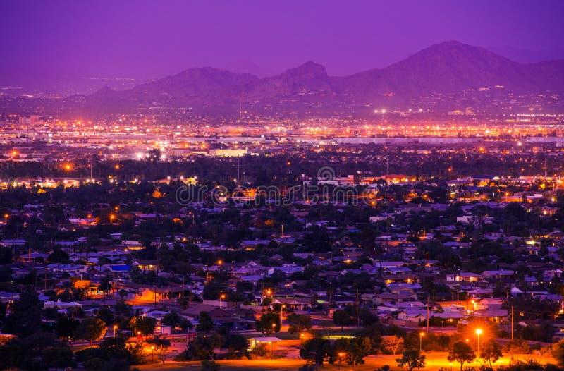 Phoenix Arizona förorter royaltyfria foton