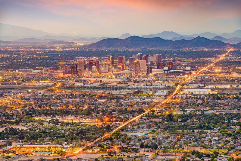 Phoenix, Arizona, los E fotos de archivo