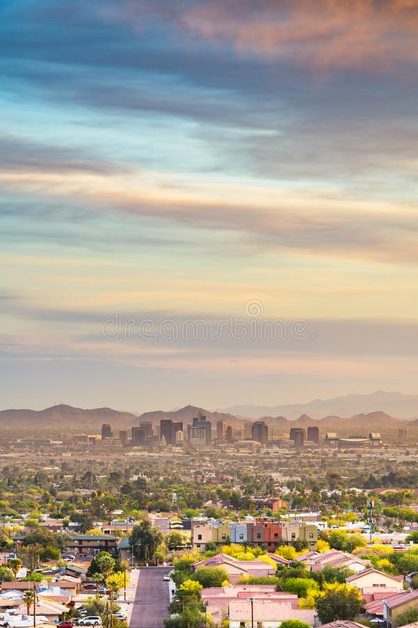 Phoenix, Arizona, paisaje urbano céntrico de los E.E.U.U. imagenes de archivo