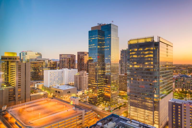 Phoenix, Arizona, paisaje urbano de los E.E.U.U. imagenes de archivo