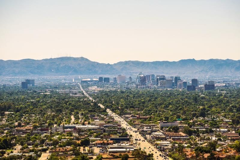 Phoenix Arizona skyline royalty free stock photos