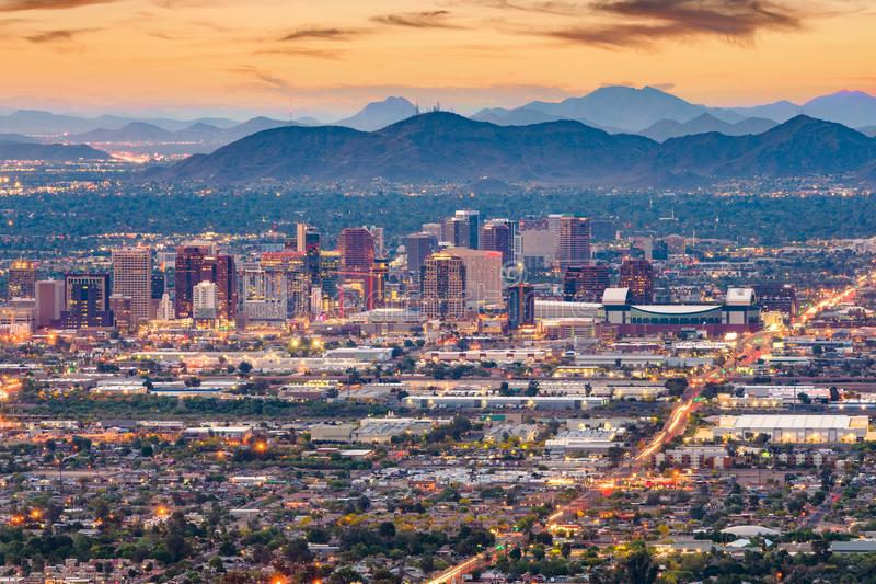 Phoenix, Arizona, usa pejzaż miejski zdjęcie royalty free