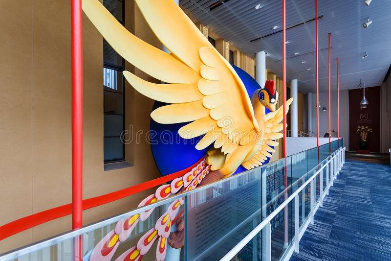 Phoenix Art Object no International Manga Museum de Kyoto fotos de stock