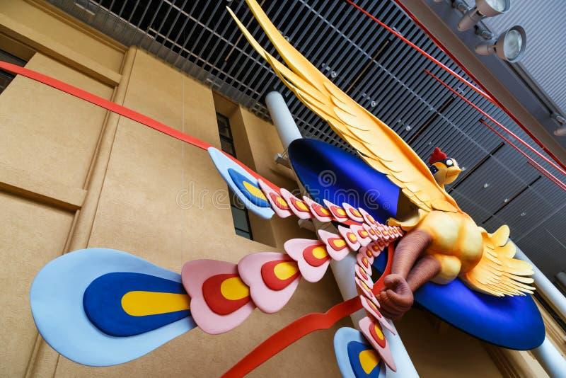Phoenix Art Object no International Manga Museum de Kyoto imagem de stock