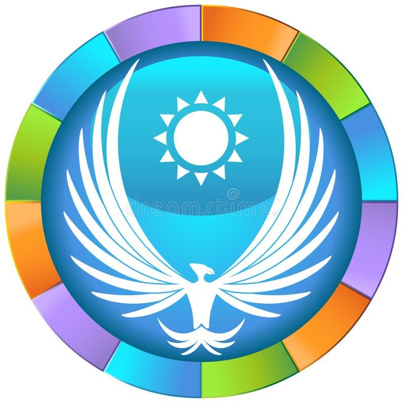 Phoenix avec Sun illustration de vecteur