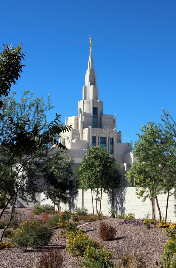 Phoenix, AZ LDS Temple Mormon. The new LDS Temple in Phoenix, Arizona royalty free stock image