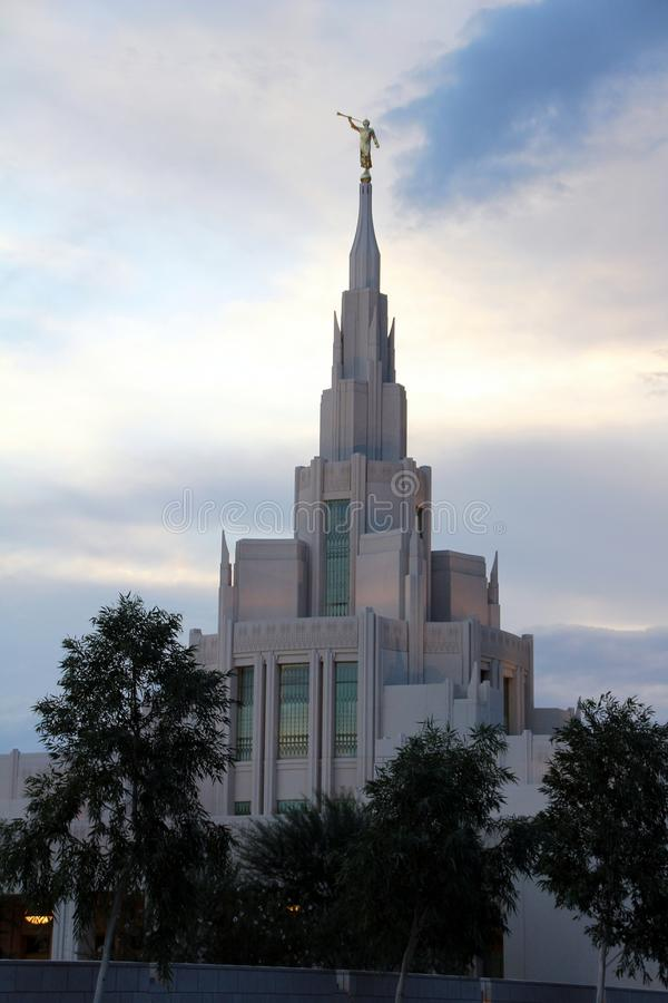 Phoenix, AZ LDS Temple Mormon royalty free stock images