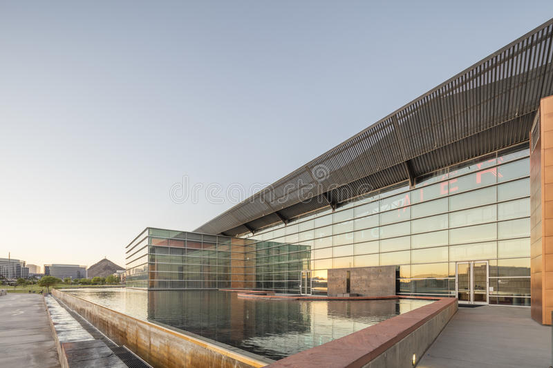 Phoenix, AZ, USA - November 9, 2016: Tempe Center for the Arts TCA is a publicly owned performing and visual arts center in Temp. The Center features a roof made royalty free stock image