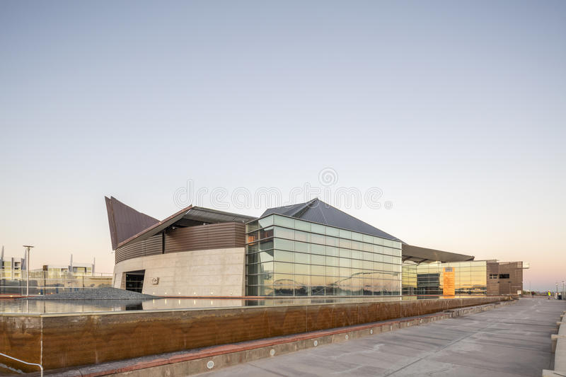 Phoenix, AZ, USA - November 9, 2016: Tempe Center for the Arts TCA is a publicly owned performing and visual arts center in Temp. The Center features a roof made stock photography
