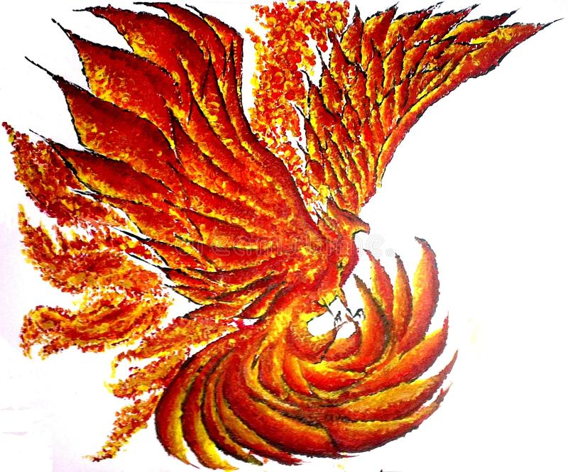 Painting Art Phoenix Fire Fantasy Digital Drawing: Phoenix Bird Stock Photo. Image Of Colourful, Display