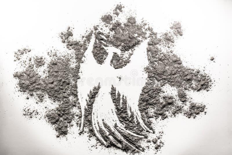 Phoenix bird illustration, rebirth in the ash vector illustration