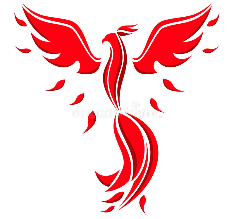 Phoenix bird symbol stock illustration