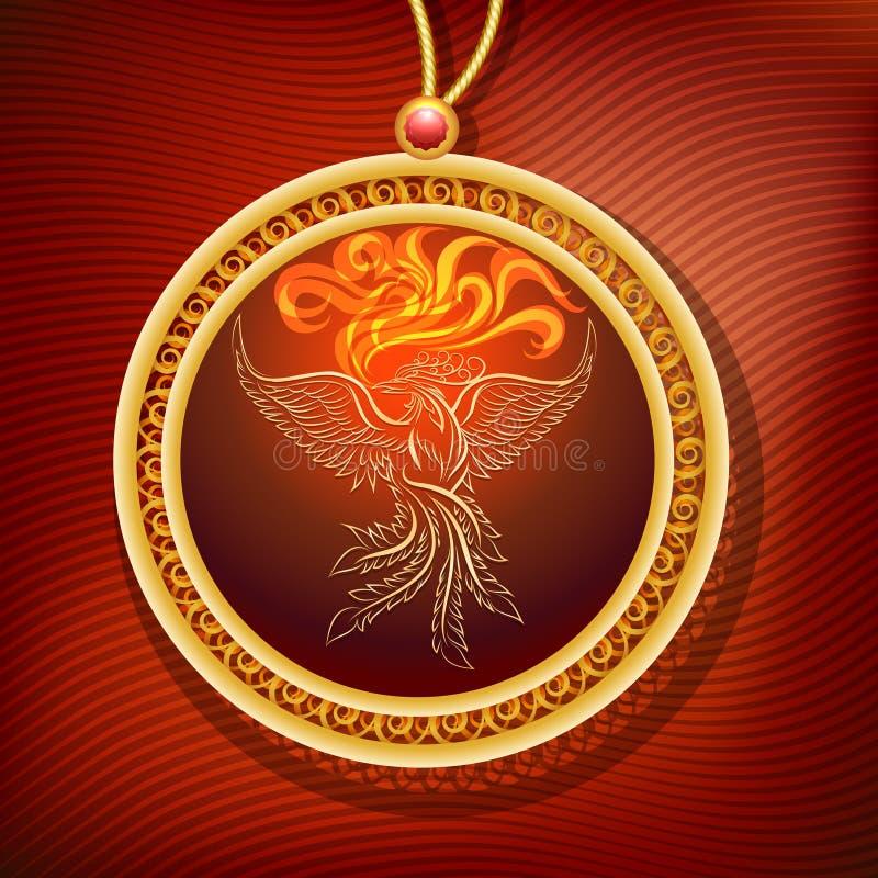 Phoenix breloczek royalty ilustracja