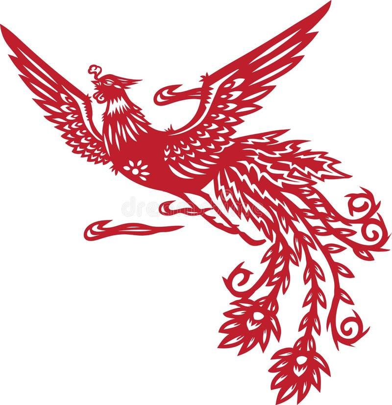 Phoenix chinês ilustração do vetor