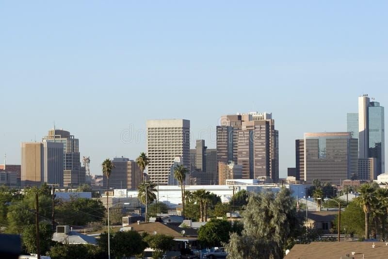 Phoenix de stad in royalty-vrije stock fotografie