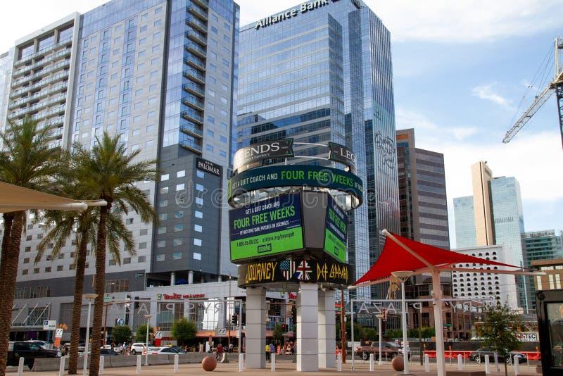 Phoenix del centro, Arizona, U.S.A. immagine stock libera da diritti