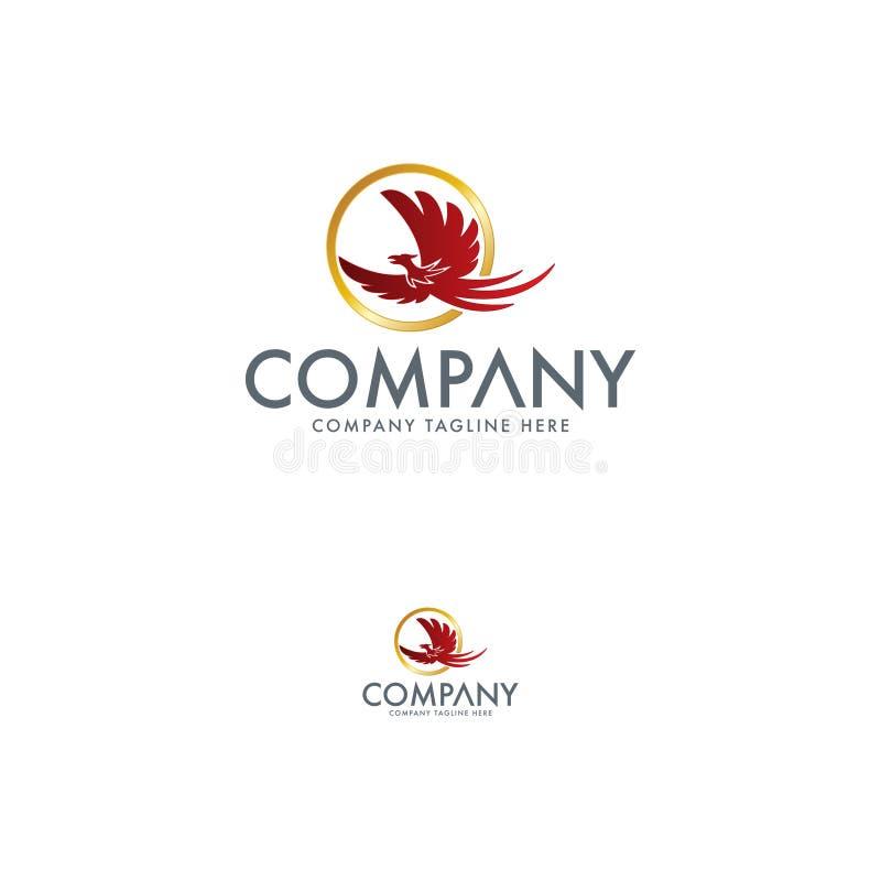 Phoenix di lusso Logo Design Template illustrazione vettoriale