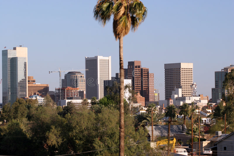 Phoenix du centre, AZ photos libres de droits