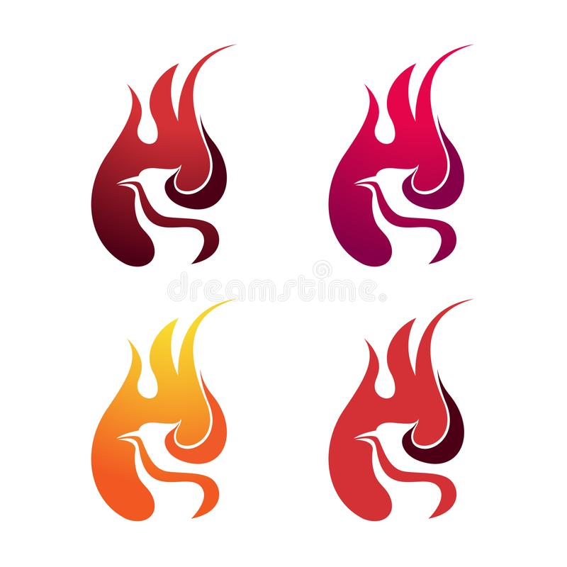 Phoenix Eagle Fire Flame Blaze Bird Logo Symbol vector illustratie
